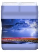 Drive By Lightning Strike Duvet Cover