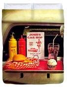 John's Car Hop Duvet Cover