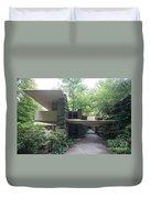 Driveway Fallingwater  Duvet Cover
