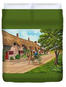 Driving A Jaunting Cart Duvet Cover