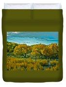 Driving Foliage Duvet Cover