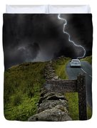 Driving Into The Storm Duvet Cover
