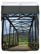 Driving Over Hanalei Bridge Duvet Cover