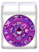 Drop Mandala Purple And Blue Duvet Cover