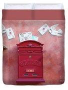 Drop Me A Letter Mr. Postman Duvet Cover