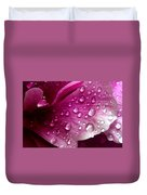 Droplets On Peony 1 Duvet Cover
