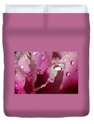 Droplets On Peony 2 Duvet Cover