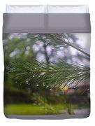 Droplets On Pine Branch Duvet Cover