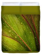 Droplets On Ti Leaves Duvet Cover