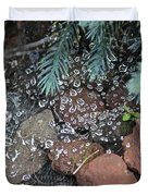 Droplets Over Web Duvet Cover