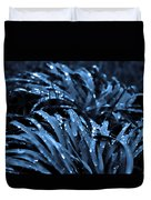 Drops And Blue Grass Duvet Cover