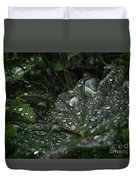 Drops And Leaf Duvet Cover