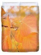 Drops Of Autumn Duvet Cover