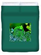 Drops On Leaf Duvet Cover