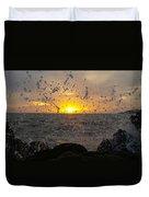 Drops, Sun And Sea Duvet Cover