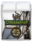 Drosselhof Neon Sign Duvet Cover