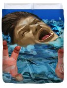 Drowning In Wealth Duvet Cover