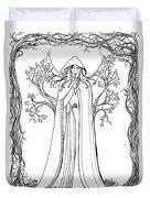 Druid Woman Shush Duvet Cover