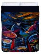 Drummer Craze Duvet Cover