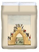 Drunkards Progress, 1846 Duvet Cover