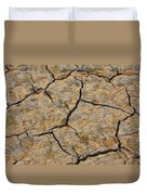Dry Cracked Lake Bed Duvet Cover