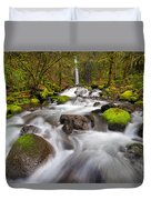 Dry Creek Falls In Spring Duvet Cover