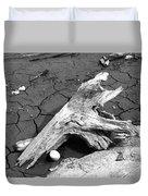 Dry Wood On Barren Land Duvet Cover
