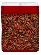 Drying Red Hot Chili Peppers Duvet Cover