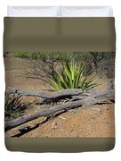Agave And Log Duvet Cover