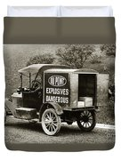 Du Pont Co. Explosives Truck Pennsylvania Coal Fields 1916 Duvet Cover