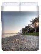 Dubai Beach Sunset Duvet Cover