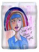 Dubious Jane Duvet Cover