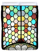 Dublin Art Deco Stained Glass Duvet Cover