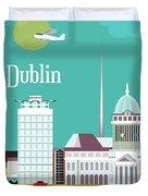 Dublin Ireland Vertical Scene Duvet Cover