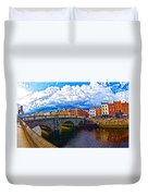 Dublin's Fairytales Around Grattan Bridge 2 Duvet Cover