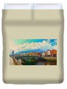 Dublin's Fairytales Around  River Liffey V4 Duvet Cover
