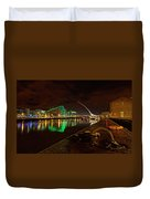 Dublin's Samuel Beckett Bridge At Night Duvet Cover
