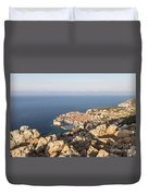 Dubrovnik And The Adriatic Coast In Croatia Duvet Cover