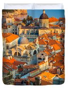 Dubrovnik Sunset Duvet Cover