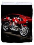 Ducati Mhe And Ferrari Duvet Cover