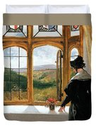 Duchess Of Abercorn Looking Out Of A Window Duvet Cover by Sir Edwin Landseer