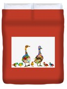 Duck Family-colorful Duvet Cover