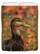 Duck In Autumn Duvet Cover