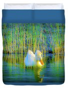 Duck On A Mission Duvet Cover