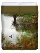 Duck On A Pond Duvet Cover