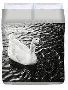 Duck On The Black Sea Duvet Cover