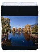 Duck Pond Public Gardens Boston Massachusetts Duvet Cover