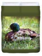 Duck Portrait Duvet Cover