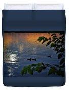 Ducks At Daybreak  Duvet Cover