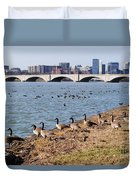 Ducks Of The Potomac Duvet Cover